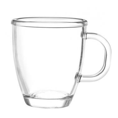 Стъклена чаша за топли напитки 362мл   MUG