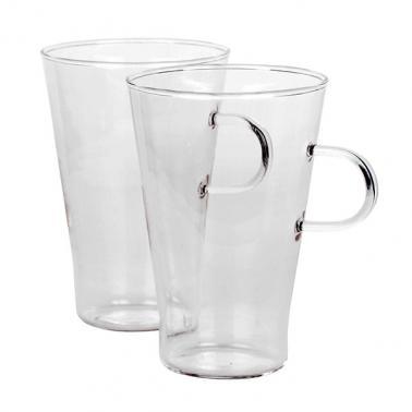 Стъклена чаша за лате / топли напитки 400мл 2бр WOL- (CSSS040C)- Termisil