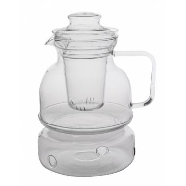 Комплект чайник с филтър и подгревател от огнеупорно стъкло  1,5л  WOL (CZ00012A / CDSP 150F) - Termisil