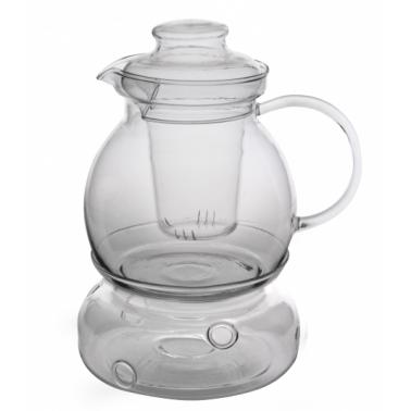 Комплект чайник с филтър и подгревател от огнеупорно стъкло 1,5л WOL (CDSK 150F) - Termisil