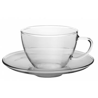 Чаша с чинийка от огнеупорно стъкло  250мл  CLASSIC - WOL (CFSK025S) - Termisil