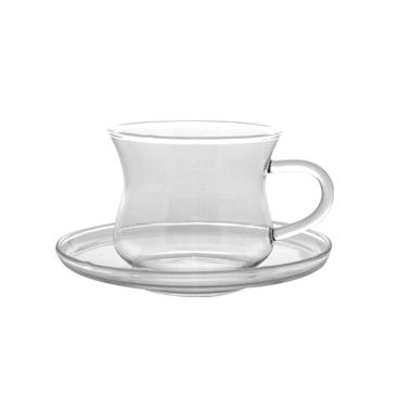 Чаша с чинийка от огнеупорно стъкло 220мл  IZA - WOL (CFSF022S) - Termisil