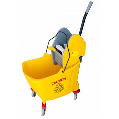 Единична количка за почистване с преса жълта 36л. 39x64x86cм 028AL GX - Horecano