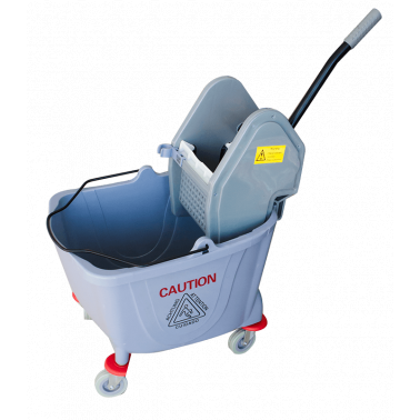 Единична количка за почистване с преса сива 36л. 39x64x86cм. 028AL GX- Horecano