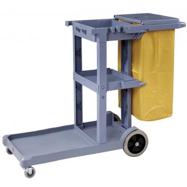 Количка за почистване сива (125x51x95cм.) 033GW GX - Horecano