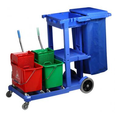 Количка за почистване синя (125x51x95cм.) 033GW GX - Horecano