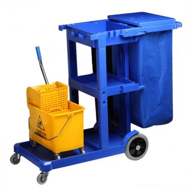 Количка за почистване синя (121x49x99cм.) 033 GX - Horecano