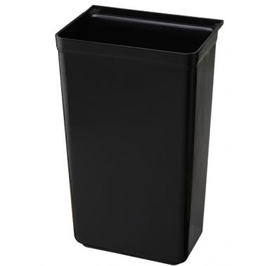 Пластмасов контейнер за количка за кухненски отпадъци черен  33x23x56cм 035A GX - Horecano