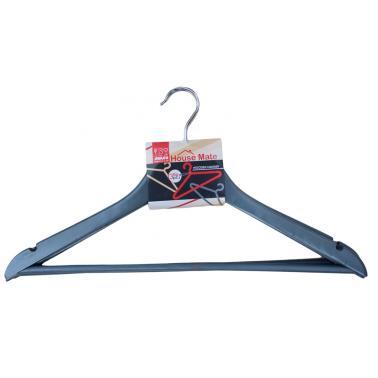 Дървени закачалки за дрехи 44x23x1,2см  3бр. сиви (P 67 / COLOR) - Horecano