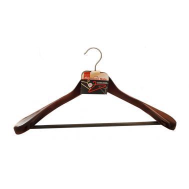 Дървена закачалка за сако 44x23x1,2см (93L) - Horecano