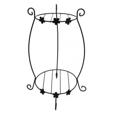 Цветарник за две саксии черен FERONYA-(FEFER-01)