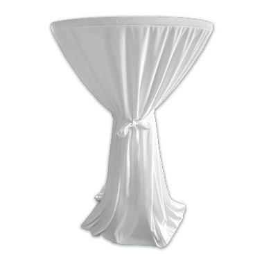 Текстилна покривка за коктейлна маса ф80x110см бяла (HC-16138)- Horecano