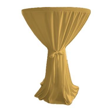 Текстилна покривка за коктейлна маса ф80x110см златиста (HC-16141)- Horecano