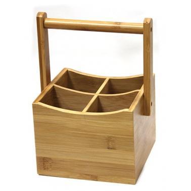 Бамбукова стойка с 4 разделения 15х15хh23 см (A2095-new) - Horecano