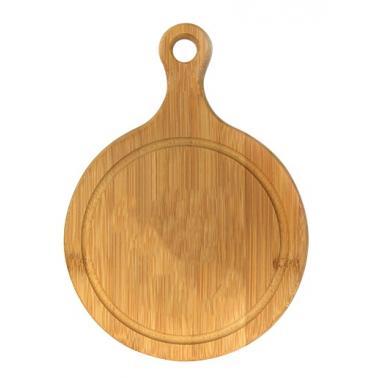 Бамбукова дъска кръгла с дръжка ф15см ( B3066-3 ) - Horecano