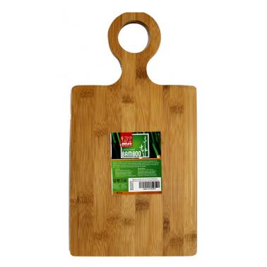 Бамбукова правоъгълна дъска с дръжка 39,5x20,5xh1,5см (B5322M) - Horecano