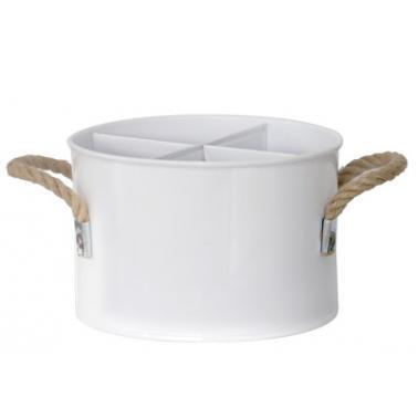 Метална стойка за бутилки бяла  ф17xh11см HORECANO-(HC-16213)