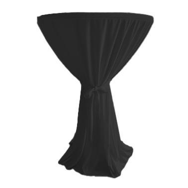 Текстилна покривка за коктейлна маса ф80x110см черна (HC-16140)- Horecano