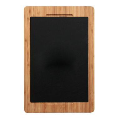 Бамбукова дъска за презентация с каменна плоча 36x24x1.9см (BS017)- Horecano