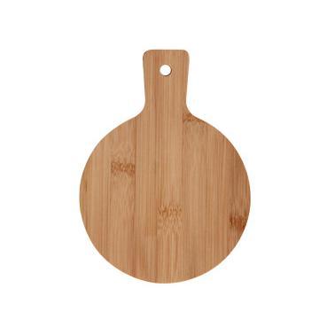 Бамбукова кръгла дъска с дръжка 19x14x0.7см (BW1052S)- Horecano