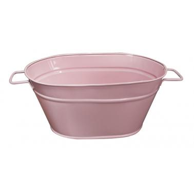 Метално овално сандъче розово малкоFERONYA-(8624-1)