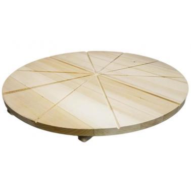 Дървен талар за пица разграфен на 10 парчета ф60см/2-5h - Horecano