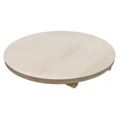 Дървен талар за пица гладък ф50см / 2-5 h - Horecano