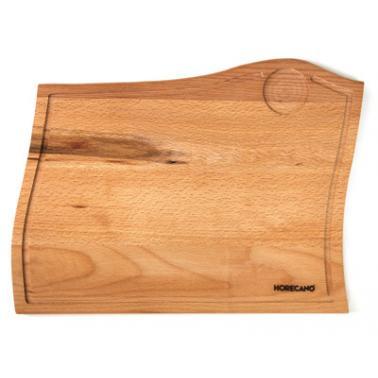 Дървена дъска   за сервиране двустранна 36,5х28х1,6см HORECANO-(HC-17377)