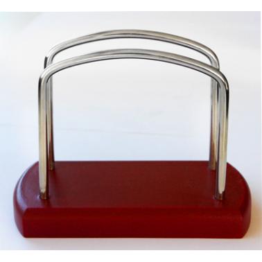 Дървен салфетник червен ММ-500001/4 - Horecano