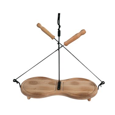Дървена дъска осморка с 2 бр. шиша 35см ММ - Horecano