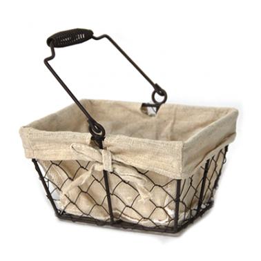 Метален панер правоъгълен 20x15xh12см текстил (W1018-M) - Horecano