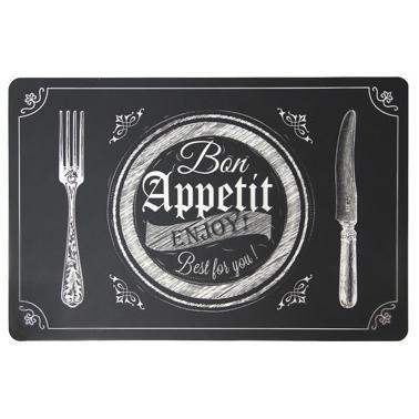 Полипропиленова подложка  за хранене BON APPETIT B 43,5x28,5см HORECANO-(PPCO-24791-BLACK)