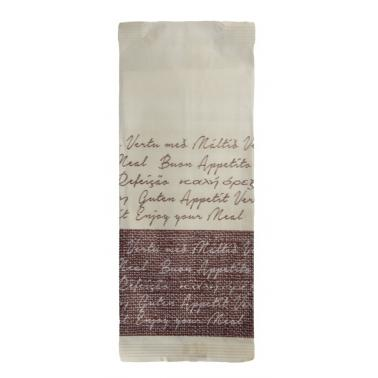 Хартиен джоб за прибори със салфетка и декор
