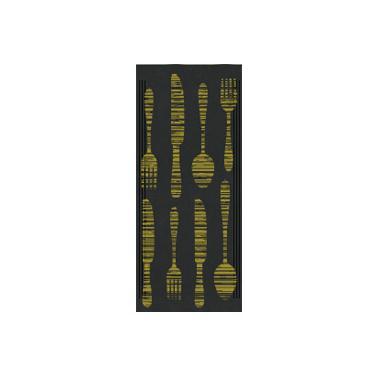 Хартиен джоб за прибори със салфетка 11x25см с декор