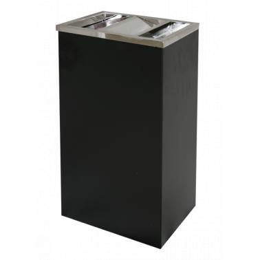 Метален пепелник правоъгълен черен (30/24/60.5см) ЕК-9486 PS(BL) - Horecano