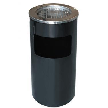 Метален пепелник черен 30x65см ЕК-9412А BL - Horecano