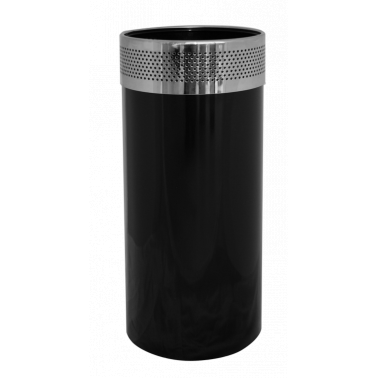 Метален кош черен с иноксов кант (25/61см) ЕК-9490 - Horecano