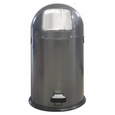Кош за отпадъци 33л сив с педал ЕК-9648 DG - Horecano