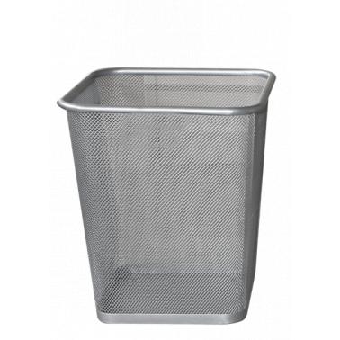 Метален кош канцеларски с мрежа, сив, 25x25x35 см. ЕК-9475В - Horecano