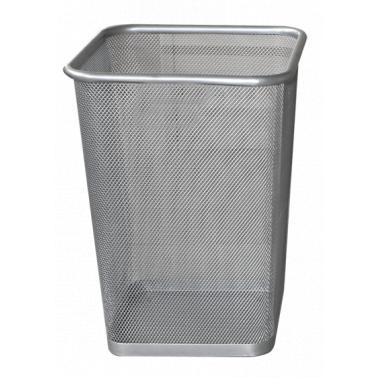 Метален кош канцеларски с мрежа, сив,  22x22x30 см. ЕК-9475С - Horecano