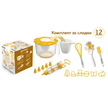 Комплект от 12 елемента за сладки GL-(242) - Horecano