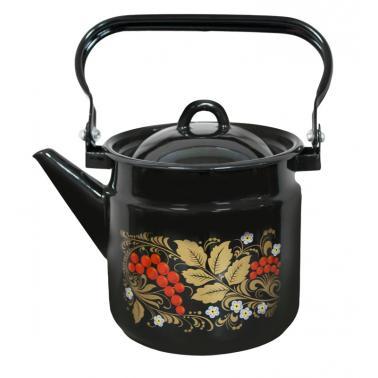 Емайлиран чайник2л с декор