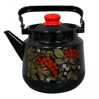 Емайлиран чайник3,5л с декор