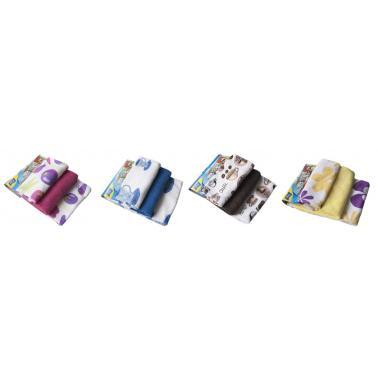 Микрофибърни кърпи кухненски с различни декори 3бр  41x48см  485 - Titiz
