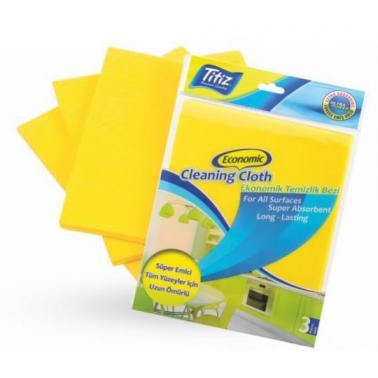Кърпи за почистване 3бр жълти(38x35см) 703 - Titiz