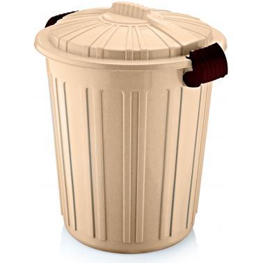 Пластмасов кош за отпадъци N-5 73л. 45х52см бежов (CK-420)  -  Irak Plastik