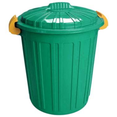 Пластмасов кош за отпадъци N-5 -73л. 45х52см. зелен (CK-420)  -  Irak Plastik