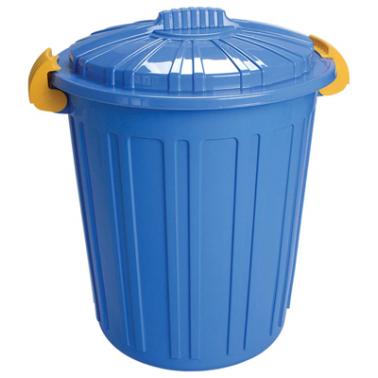 Пластмасов кош за отпадъци N-5 -73л. 45х52см. син (CK-420)  -  Irak Plastik