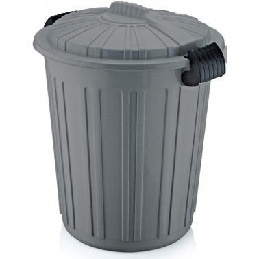 Пластмасов кош за отпадъци N-5 -73л. 45x52см. сив (CK-420)  -  Irak Plastik