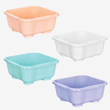 Пластмасова купа квадратна 10л. различни цветове  (BD-320)  -  Irak Plastik